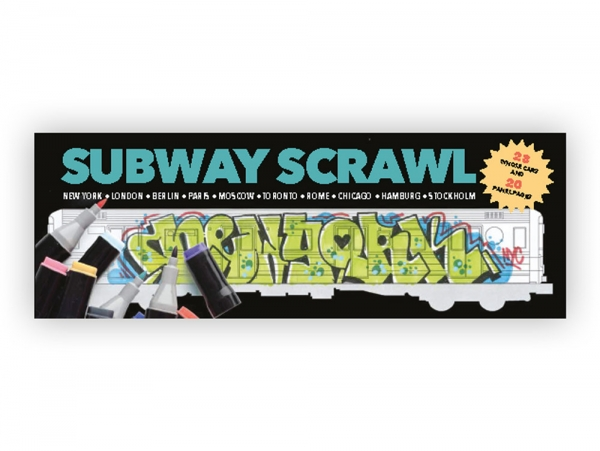 Subway Scrawl Coloring Book