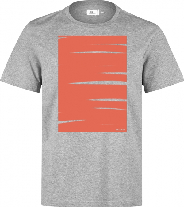 Eight Miles High Schraffo Box Grey T-shirt