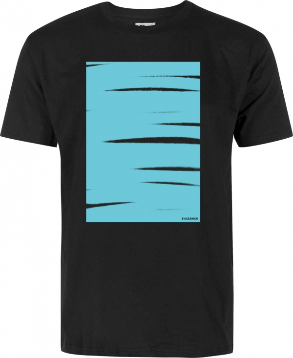 Eight Miles High Schraffo Box Black T-shirt