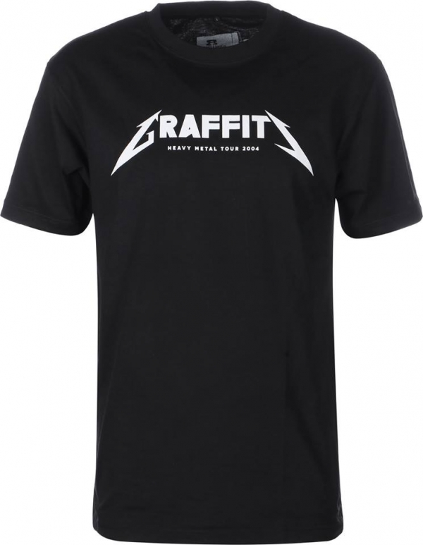 Eight Miles High Graffiti T-Shirt Black
